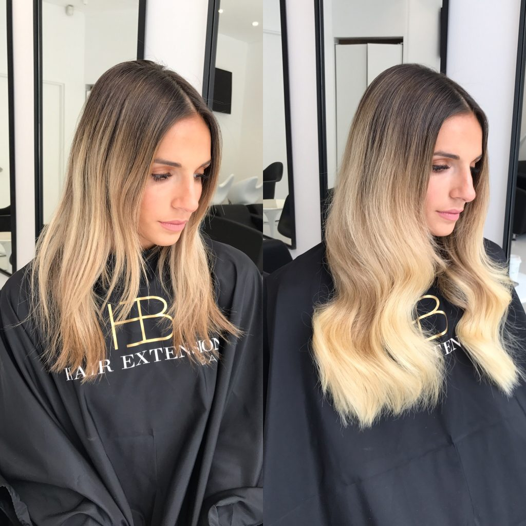 Nano beads hair extensions sydney