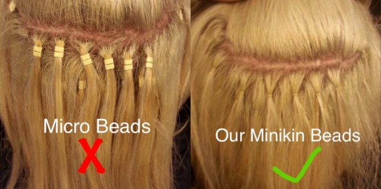 Minikin bead hair extensions , Micro bead hair extensions